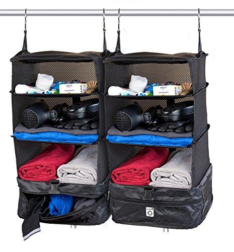 Xcase Kleidertaschen: 2er-Set XL-Koffer-Organizer, Packwürfel zum Aufhängen, 30 x 64 x 30 cm (Organizer-Tasche für Koffer)