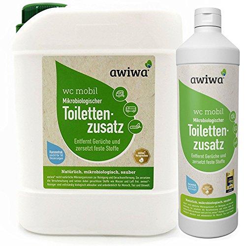 awiwa Sanitärflüssigkeit für Campingtoilette & Toiletten-Zusatz Chemie WC, 2.5 L