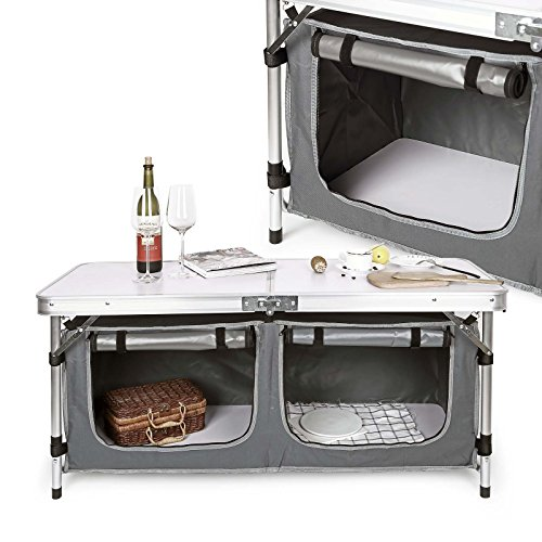 Wiltec Campingschrank Camping Küche Schrank Faltschrank Campingküche Stoffschrank