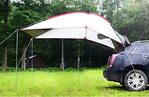 sZeao Auto Markise Sonnenschutz, Outdoor Camping Auto Zelt für Autoreisen, Tragbare Auto Heckmarkise/Pergola/Dachzelt - Autozubehör für...