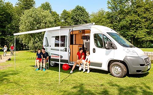 Fiamma Dachmarkise F80S weiß 400cm blau Markise Camping Sonnenschutz Wohnmobil Sonnendach Reisemobil