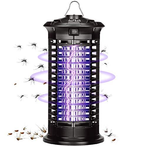 AUTSCA Elektrischer Insektenvernichter,Insektenfalle Mückenlampe 11w 1000V mit UV-Licht,Keine giftigen Chemikalien,Wirksam zum Reduzieren...