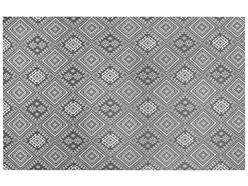 Friedola Outdoorteppich Lounge - Anthrazit - 200x300 cm, Vorzeltteppich Wasserdurchlässig, rutschfest, Weichschaumteppich für Terrasse,...