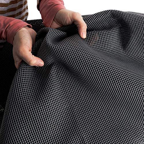 Vorzeltteppich Soft 250x350 - ZUSCHNEIDBAR - ohne Ausfransen - formfest - weich - grau - leicht - waschbar - mit Aufbewahrungstasche -...